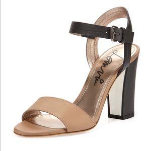 Lanvin Two Tone Ankle Strap Heel 6.5